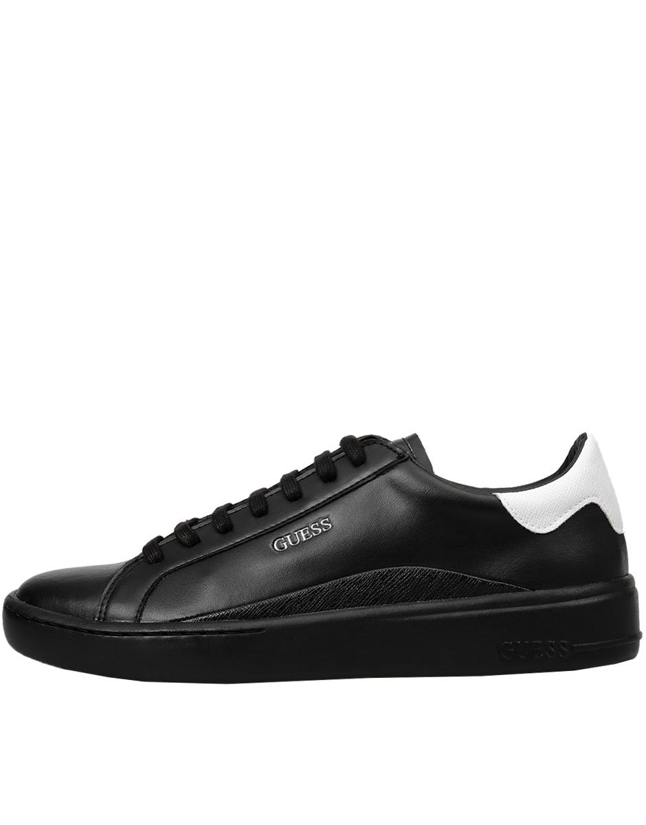 GUESS Verona Leather Trainers Black